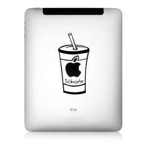 iPad Aufkleber Apfelschorle