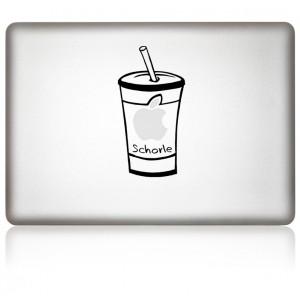 macbook aufkleber apfelschorle