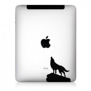 iPad Aufkleber EinsamerWolf