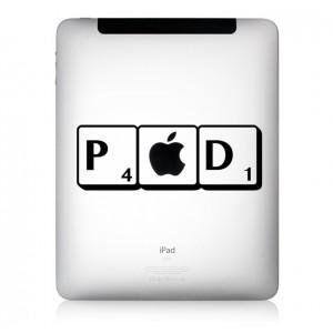 iPad Aufkleber Scrabb