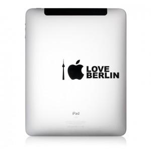 iPad Aufkleber iLove Berlin