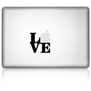 MacBook Aufkleber Love