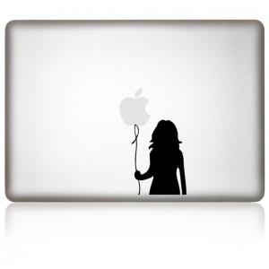 macbook aufkleber Mädchen mit Ballon