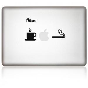 MacBook Aufkleber All iNeed in schwarz