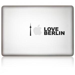 MacBook Aufkleber iLove Berlin