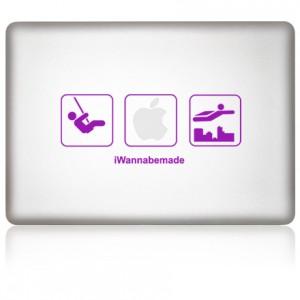 MacBook Aufkleber iWanna Be Made