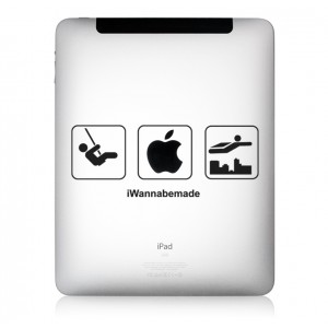 iPad Aufkleber iWanna Be Made