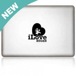 MacBook Aufkleber: iLove Rügen
