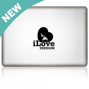 MacBook Aufkleber: iLove Usedom