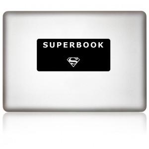 MacBook Aufkleber: SUPERBOOK