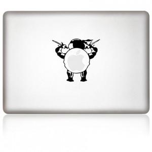 MacBook Aufkleber: Turtle Mac