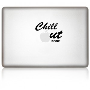 MacBook Aufkleber: Chillout Zone
