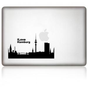 MacBook Aufkleber: I Love Hamburg