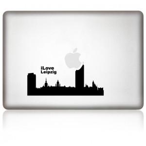 MacBook Aufkleber: I Love Leipzig
