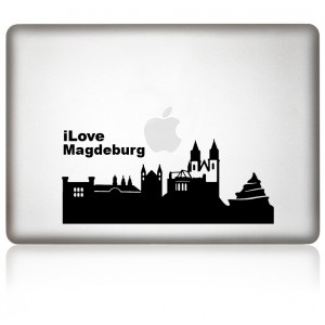 MacBook Aufkleber: I Love Magdeburg