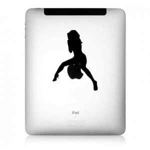 iPad Aufkleber: Sexy Babe
