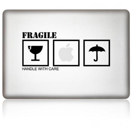 macbook aufkleber Fragile
