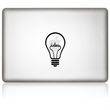 MacBook Aufkleber iDea