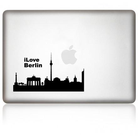 MacBook Aufkleber: I Love Berlin