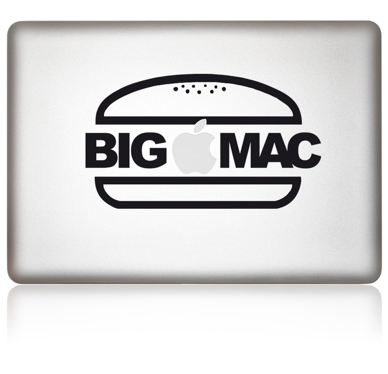 designaufkleber bigmac macbook aufkleber. Black Bedroom Furniture Sets. Home Design Ideas
