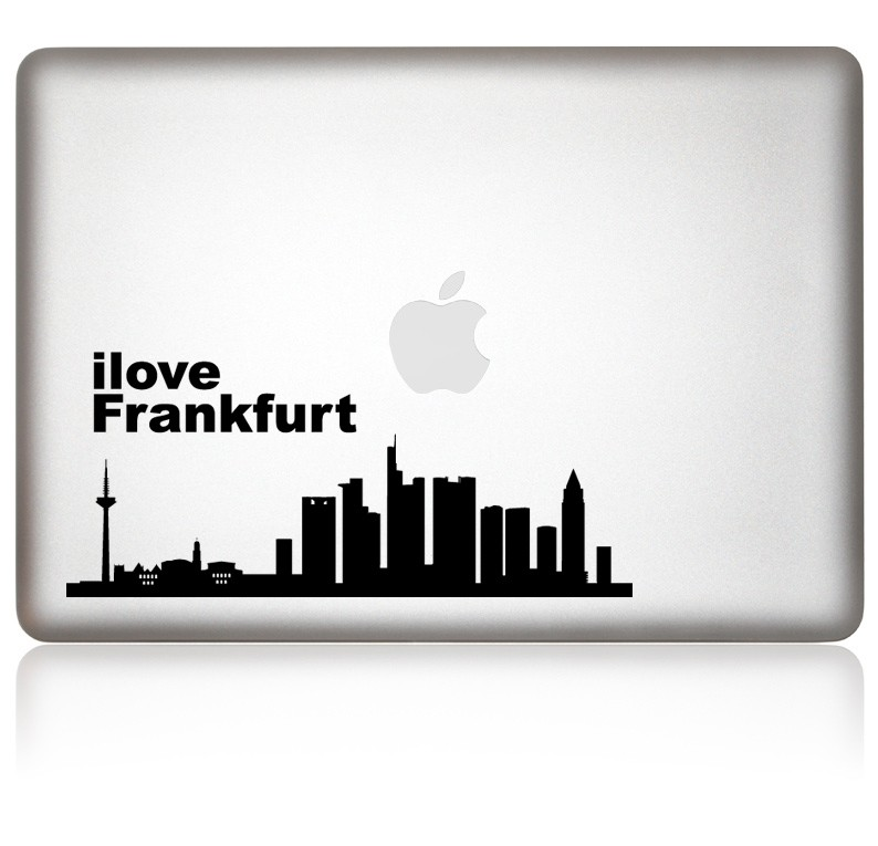 designaufkleber ilove frankfurt macbook aufkleber. Black Bedroom Furniture Sets. Home Design Ideas