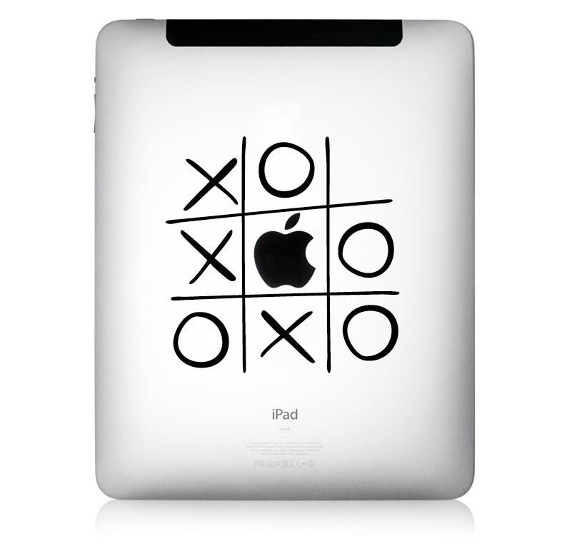 Designaufkleber Tic Tac Toe Macbook Aufkleber