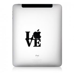 iPad Aufkleber l.o.v.e.