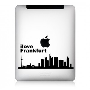iPad Aufkleber iLove Frankfurt