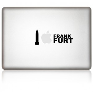 MacBook Aufkleber Love FFM