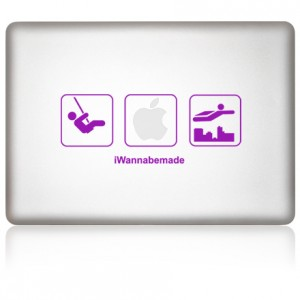 MacBook Aufkleber iWanna Be Made