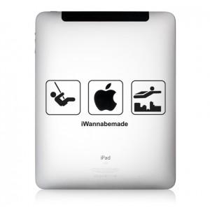 iPad Aufkleber iWanna Be Made