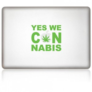MacBook Aufkleber: Cannabis
