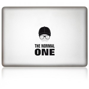 MacBook Aufkleber: THE NORMAL ONE