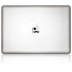 MacBook Aufkleber: Gentleman