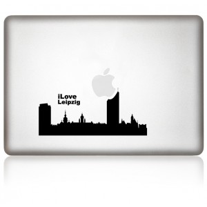 MacBook Aufkleber: I Love Leipzig