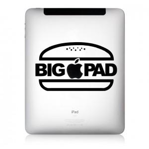 iPad Aufkleber: BIGPAD
